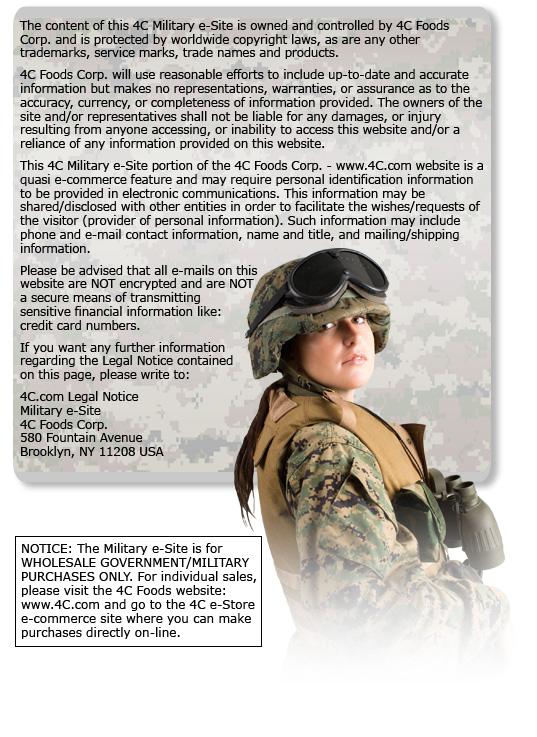 military legal notice content